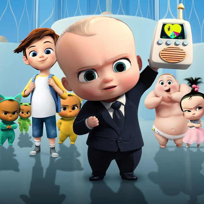 **Boss Baby** Imagine babies come from a large corporation and instead of all of them going to loving families, some babes head off to work. *Image: Dreamworks*
