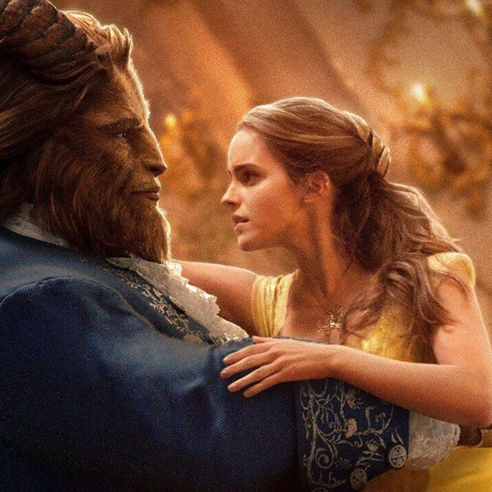 **Beauty and the Beast** An arrogant prince is placed under a spell and turned into a Beast (Dan Stevens) because he cannot love. By chance he meets Belle (Emma Watson) and with the help of his servants, he shows Belle he's not the monster he appears to be. *Image: Disney*