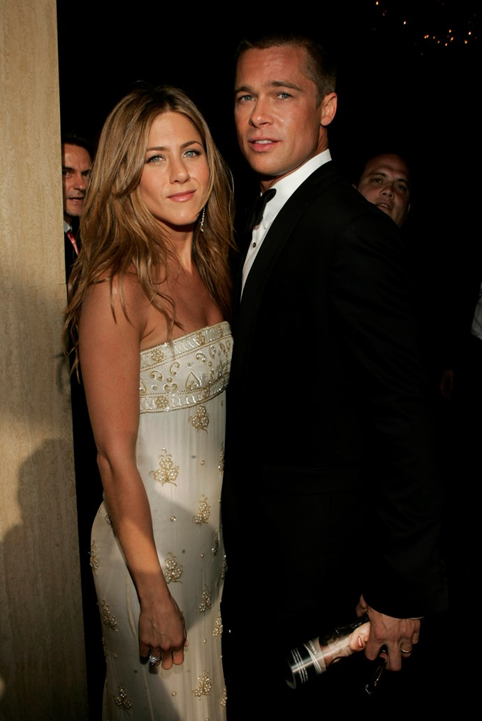 Jen and Brad split after five years of marriage together.