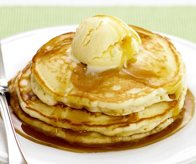 """**Best pancakes recipe of all time** <br><br> Best pancakes ever, you say? Yes, we know. It's a big call to make, but we reckon we've nailed it.  <br><br> See the full *Australian Women's Weekly* recipe [here](https://www.womensweeklyfood.com.au/recipes/best-pancakes-recipe-19934