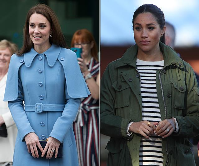 Duchess Catherine and Duchess Meghan have been at the centre of the royal online trolling. *(Images: Getty Images)*