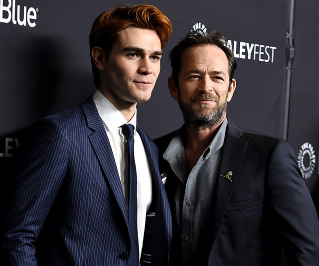 In another blockbuster TV hit, Luke took on the role of Fred Andrews in The CW's *Riverdale* in 2016. Starring as the father to main character Archie (played by KJ Apa) the young Kiwi actor was thrilled to work alongside the small-screen legend. *(Image: Getty)*