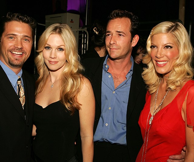 All grown up! In 2005, Luke enjoyed a mini reunion with his *90210* cast mates including Tori Spelling at the TV Land Awards. *(Image: Getty)*