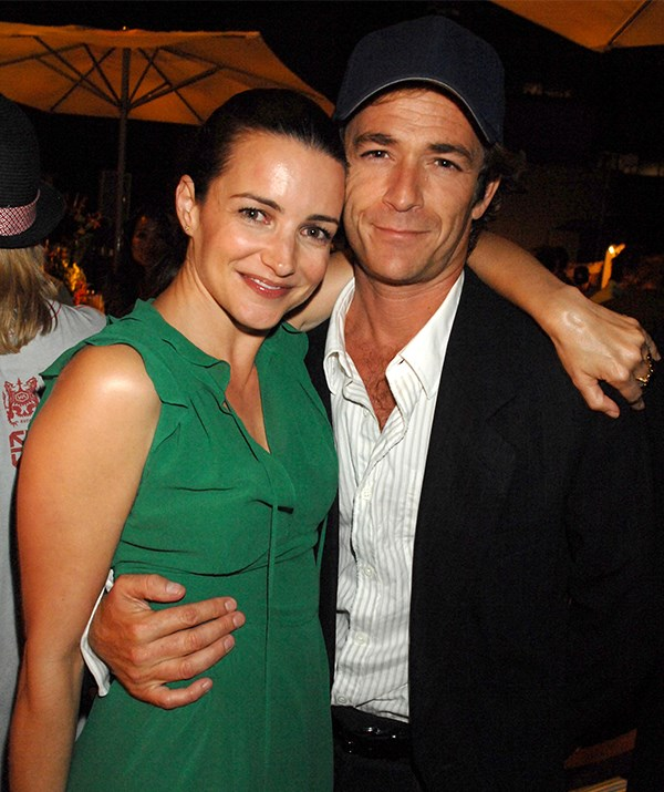 Perry was pictured with Kristin Davis at a 2007 event for his television show *John From Cincinnati*. *(Image: Getty)*