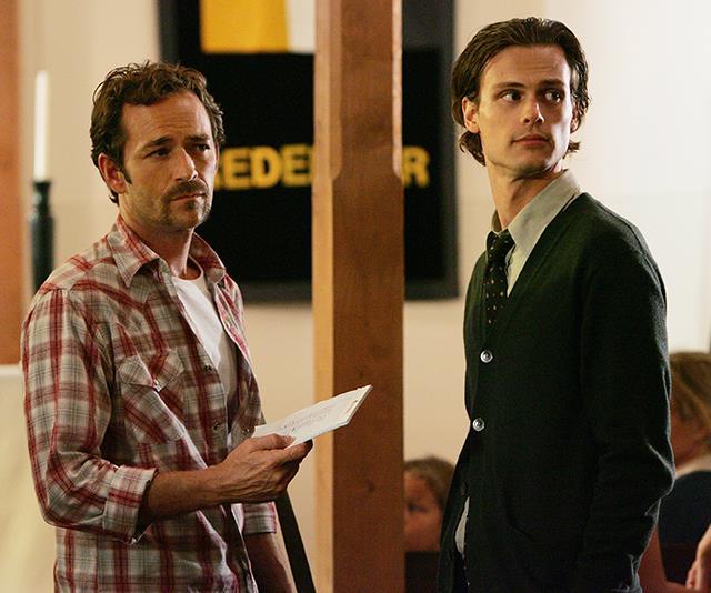 In 2008, Luke appeared alongside Matthew Gray Gubler in *Criminal Minds*. *(Image: Getty)*
