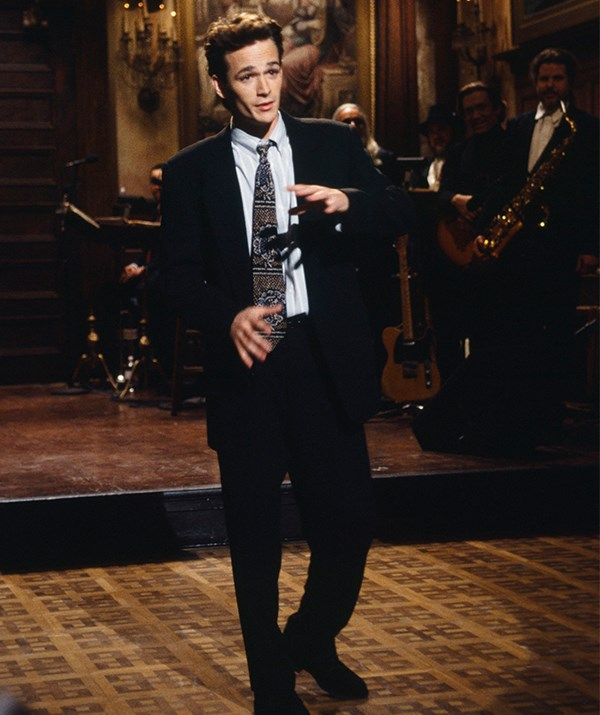 You know you've made it in Hollywood when you get a gig on Saturday Night Live - which is exactly what Luke did in 1993! *(Image: Getty)*