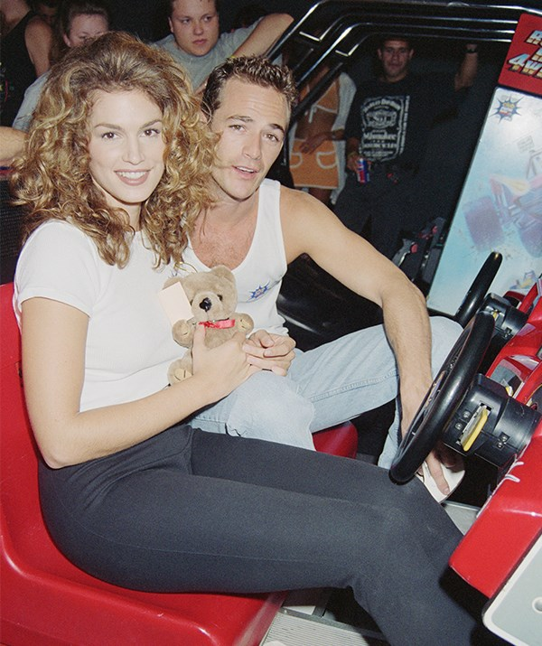 That same year, Perry also looked at home when he was snapped with with American model Cindy Crawford. *(Image: Getty)*