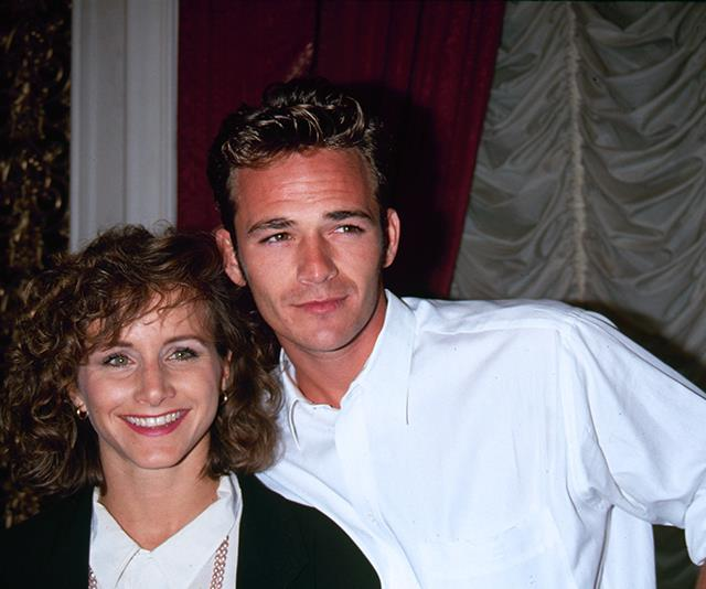 On-screen and off-screen pals Luke and *90210* actress Gabrielle Carteris connected during the show's hey-day. *(Image: Getty)*
