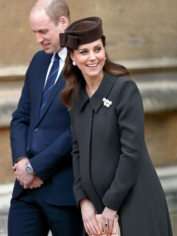 The Duchess of Cambridge stepped out of the spotlight about a month before her due date for all three of her children. *(Image: Getty)*
