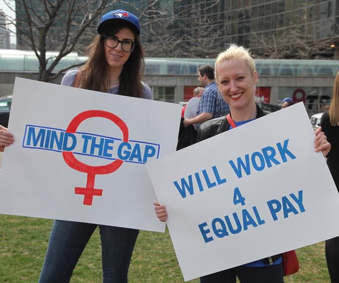 Women are fighting to be paid the same as men. *(Image: Getty)*