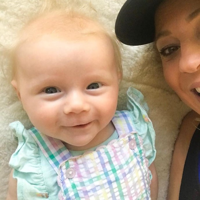 That smile! Carrie shared this adorable snap of her and baby Addie getting their selfie on. *(Image: Instagram @bickmorecarrie)*