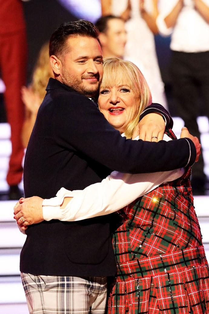 Denise and her dance partner Jeremy.