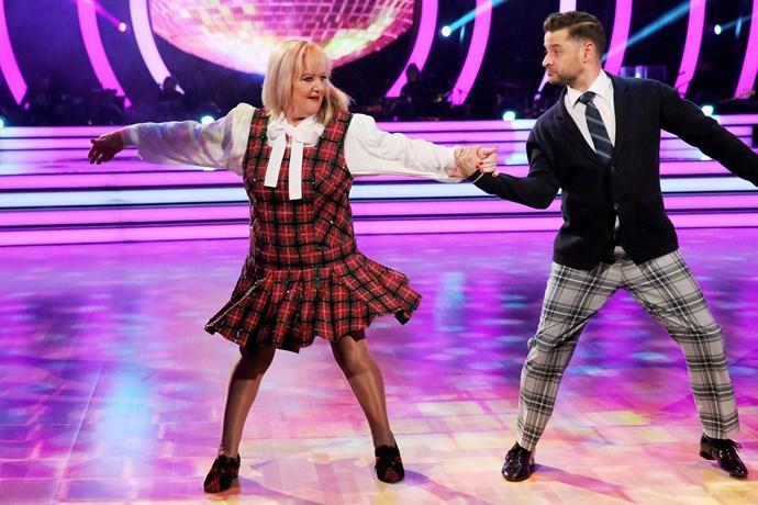 Denise pulls off an impressive dance routine.