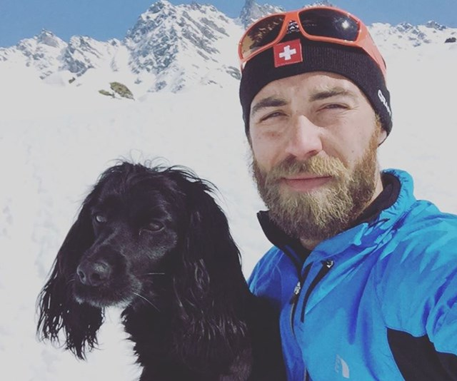 James and his dogs (particularly Ella) have played a significant role in his mental health recovery. *(Image: Instagram @jmidy)*
