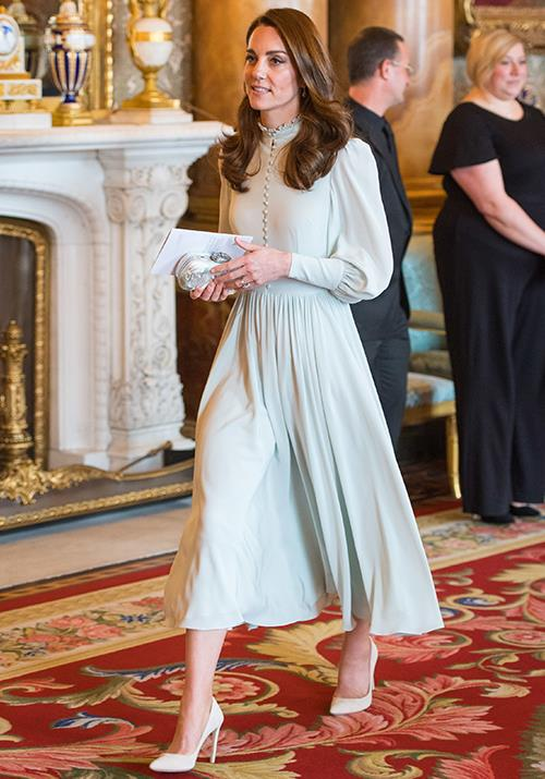 Kate looked stunning in a custom created gown. *(Image: Getty)*