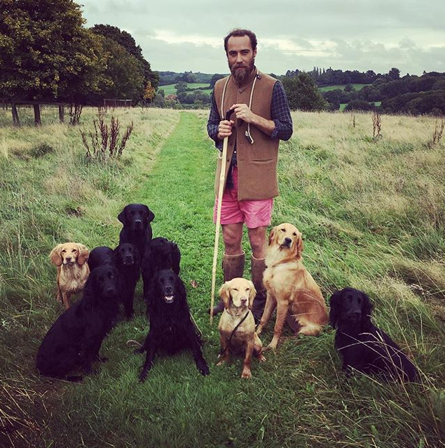 Dogs will always have a place in James' heart. *(Image: Instagram @jmidy)*