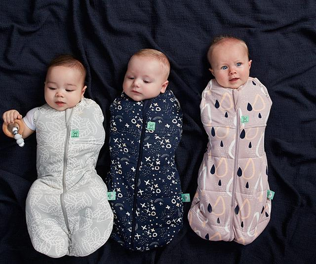 "Pro tip: If swaddling with a piece of fabric is proving tricky, try using a zip-up swaddle. [ergoPouch](https://www.ergopouch.com.au/|target=""_blank""