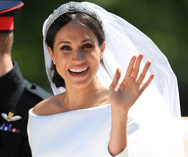 And how could we miss the ultimate, original and oh-so-perfect up-do from the queen of style herself. Meghan's wedding day hair will forever remain iconic. Long live the bun!