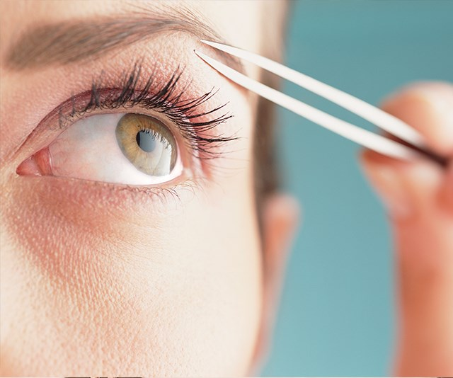 You've got to focus or could end up with very asymmetrical brows. *(Image: Getty Images)*