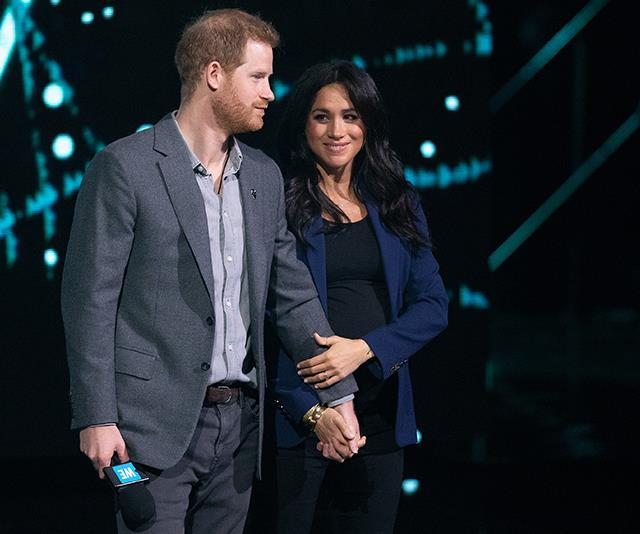 The pair couldn't have looked more excited to be parents. *(Image: Getty)*