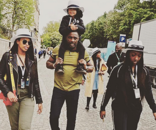 Idris Elba with fiancé, Sabrina Dhowre and kids, Winston and Isan. *Image: Instagram/IdrisElba*