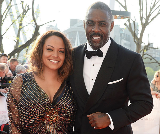Idris Elba with ex-partner, Naiyana Garth who is mother of his four-year-old son, Wisnton *Image: Getty Images*