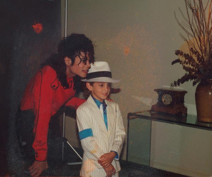 Michael Jackson pictured with James Safechuck, also known as Jimmy, when he was a child. *(Image: Channel 10)*