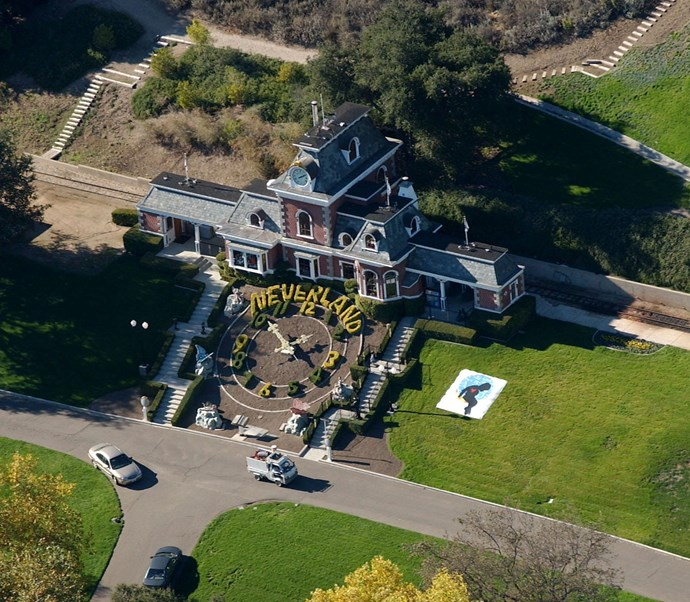 An overhead shot of Michael Jackson's estate Neverland. *(Image: Getty)*