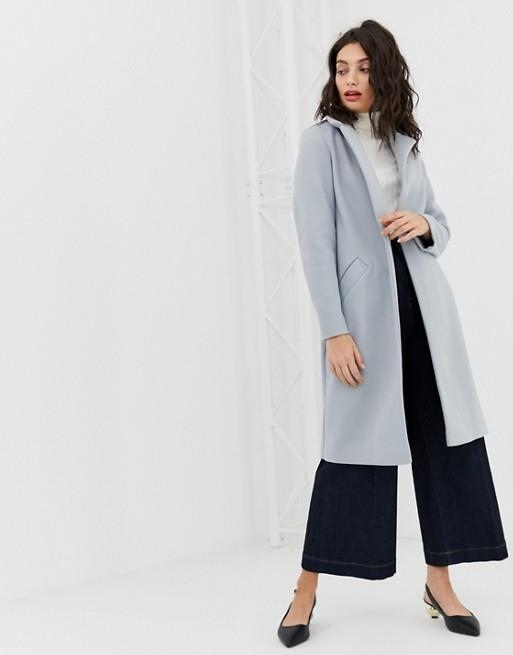 "River Island tailored coat, $150, available from [ASOS](https://www.asos.com/au/river-island/river-island-tailored-coat-in-blue/prd/11502914|target=""_blank""