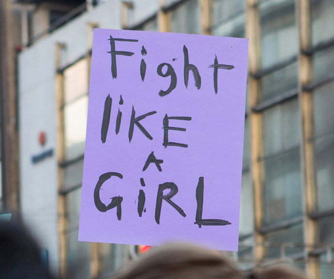 In many countries around the world women have to fight for basic rights. *(Image: Getty)*