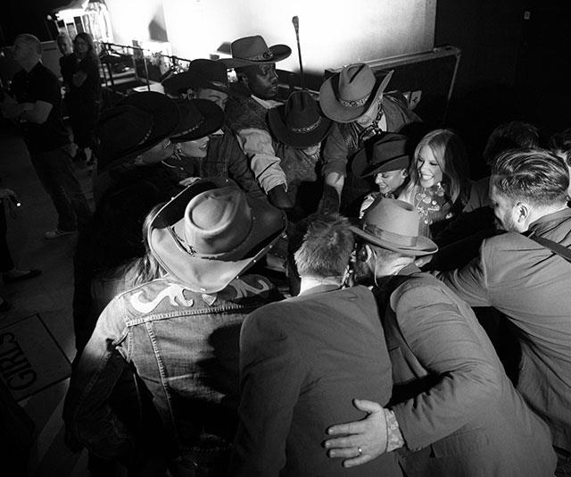 The post-show team hug. *(All images: Jasin Boland/KDB Pty Ltd)*