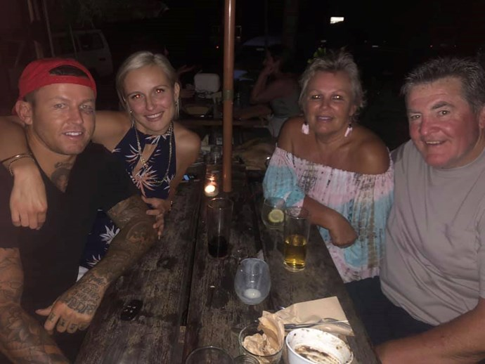 Carney's mother Leanne shared a family snap with the rumoured couple recently. *(Image: Facebook)*