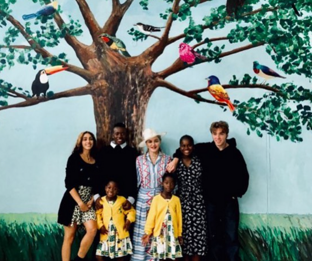 Madonna with all six of her children in Malawi. *(Image: Instagram @Madonna)*