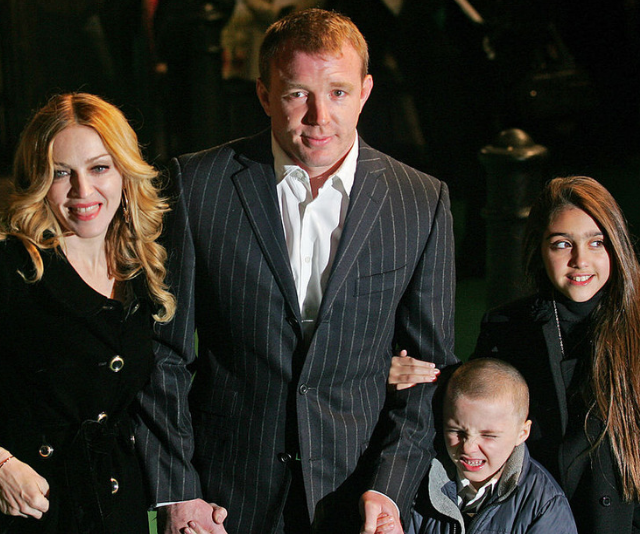 Madonna, Guy Ritchie, Rocco and Lourdes. *(Image: Getty Images)*