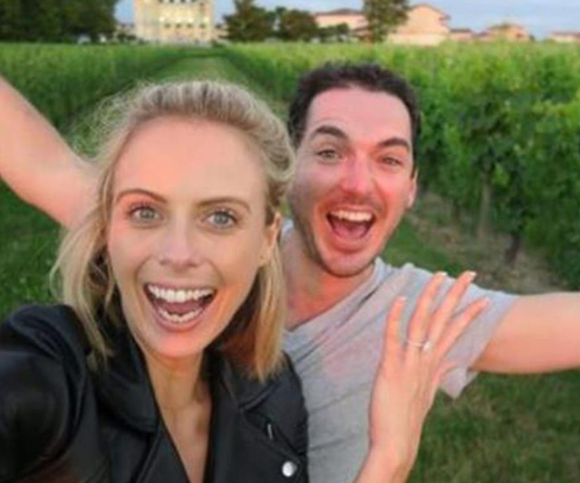 """Pete popped the question, and I said yes, OF COURSE!!!"" *Image: Instagram/SylviaJeffreys.*"