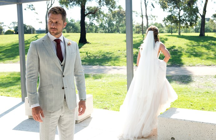 Elly bolts from their big day, leaving Mark to face their family and friends.