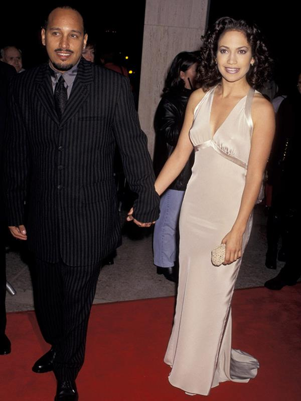 "Back in the eighties, Jennifer Lopez's main man was her high school sweetheart relationship David Cruz, who she dated from the age of 15 well into her early 20s. Even after their break up, Jennifer said that he ""is a friend and he probably knows me better than anyone else."" *(Image: Getty Images)*"