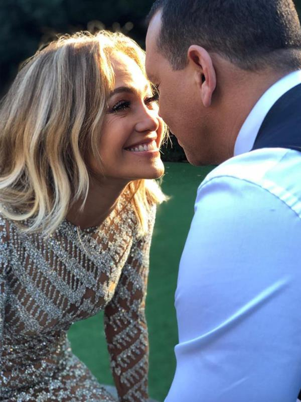The two met in 2005 back when Jennifer was still married to Marc Anthony but reconnected in 2017. And after two years of dating, ARod popped the question on a trip to the Bahamas. *(Image: Instagram @jlo)*