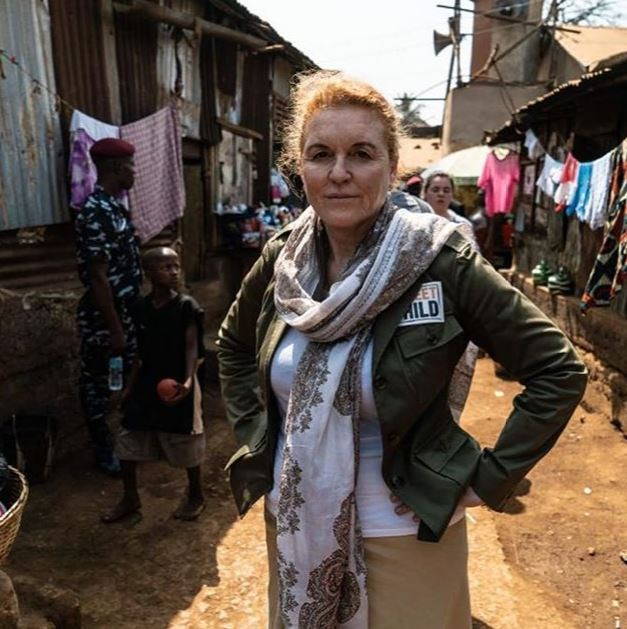 Sarah is calling for support in Sierra Leone where a huge fire has destroyed many homes and livelihoods. *(Image: Instagram / @sarahferguson15)*