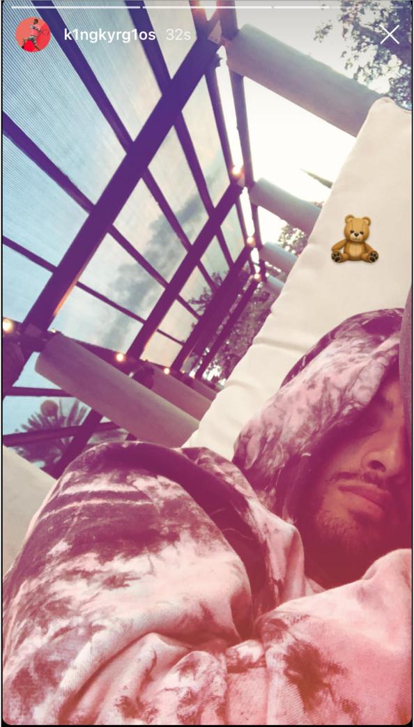We see that teddy bear, Nick! *(Source: Instagram)*