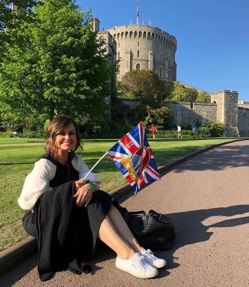 Lisa covered the royal wedding from Windsor Castle. *(Image: Instagram / @lisa_wilkinson)*