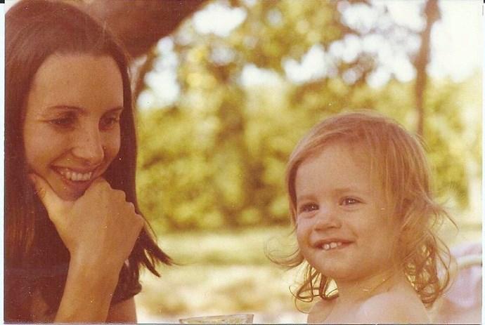 Valeska with her mum, Ariane, in Switzerland. *(Image: Supplied)*
