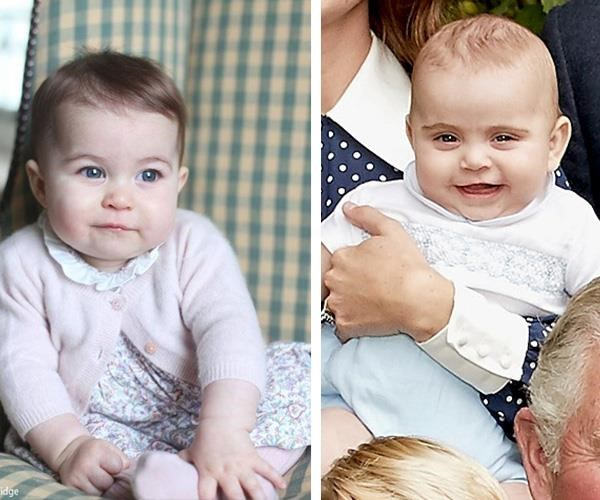 "Prince Louis may be her little brother [but he looks just like](https://www.nowtolove.com.au/royals/british-royal-family/who-does-prince-louis-look-like-new-pictures-52417|target=""_blank"") Princess Charlotte when she was the same age. *(Images: L-R Instagram @kensingtonroyal/Chris Jackson/Getty)*"