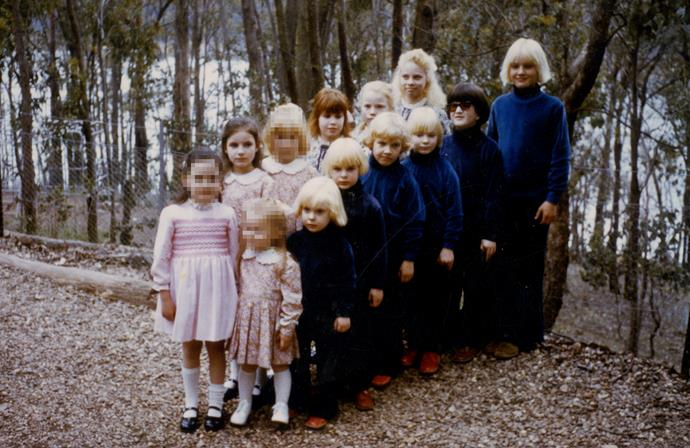 Some of the children from the cult. *(Image: Supplied)*
