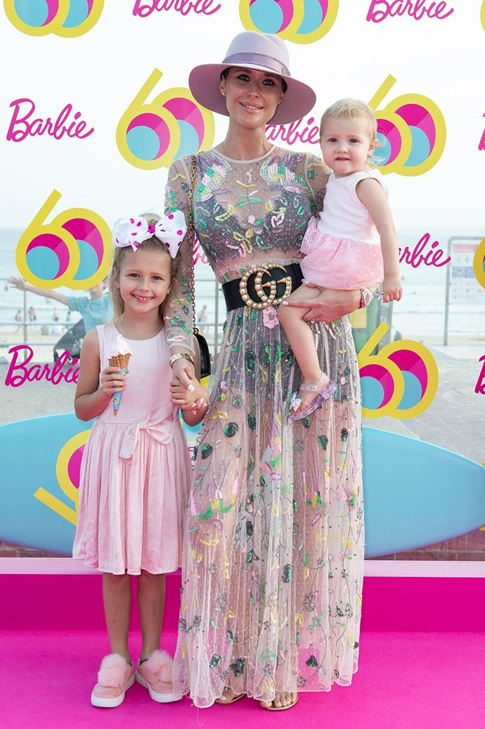 Clementine McVeigh and daughters Lolita and Florence