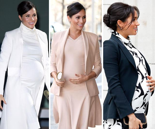 We've loved watching Meghan's baby bump grow! *(All images: Getty)*