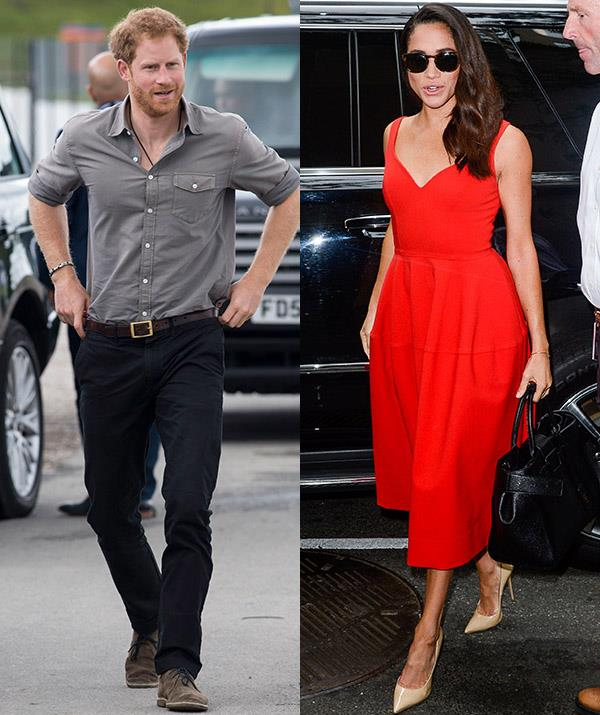 "**Mid-2016: Blind date**  <br><br> A ginger royal and a striking brunette walk into a bar... and the rest was history - quite literally. After being set up with Harry on a blind date, Meghan said there was an [instant connection](https://www.nowtolove.com.au/royals/british-royal-family/sweetest-moments-meghan-markle-prince-harry-43369|target=""_blank""). *(Images: Getty)*"