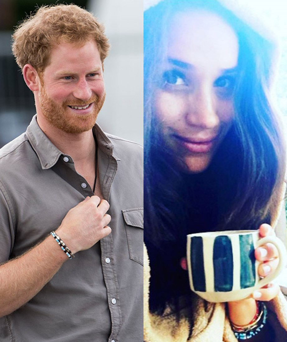 **Late 2016: They travel to Africa and are spotted with matching bracelets** <br><br> Just a few weeks after meeting, Harry made the bold move to ask Meghan whether she wanted to travel with him to Africa. She of course said 'yes', with Harry revealing the two camped under the stars - how romantic! <br><br> While the couple had kept things under wraps at the time, rumours started flying when the two were spotted wearing matching bracelets. <br><br> *(Images: Getty (L), Instagram (R))*