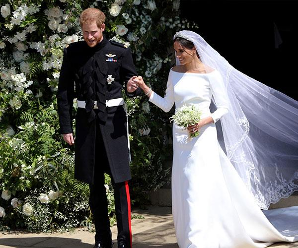 **May 2018: The Royal Wedding** <br><br> And so it was! Meghan and Harry officially tied the knot at St George's Chapel, Windsor on May 19, 2018 and the world watched on (with barely a dry eye in the house, might we add). *(Image: Getty)*