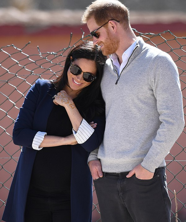 **February 2019: Royal tour of Morocco** <br><br> The Sussexes commenced a three day tour of Morocco in early 2019, and in true Meghan-and-Harry fashion, the affectionate moments continued in full-force. *(Image: Getty)*